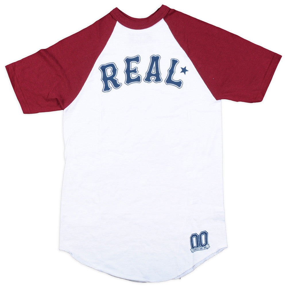 Real Rgln On Deck S/S - White/Maroon - Men's T-Shirt