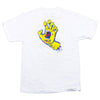 Santa Cruz Screaming Hand Regular S/S - White w/ Yellow - Mens T-Shirt
