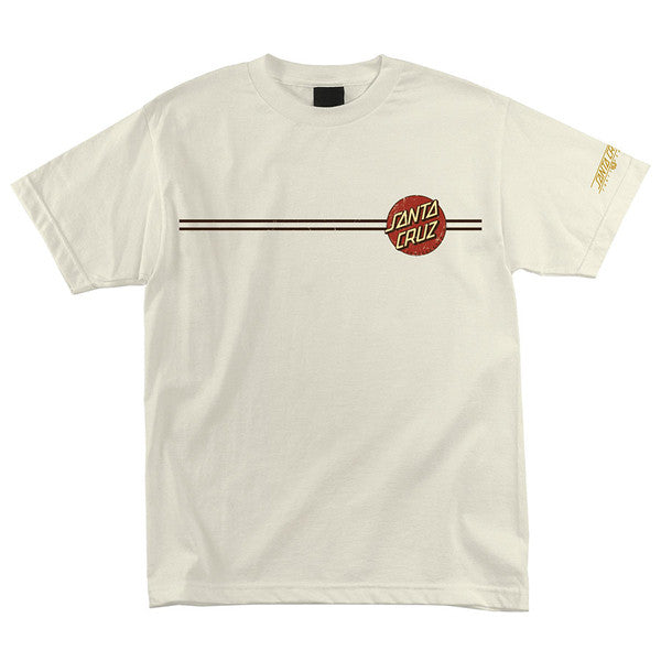 Santa Cruz Vintage Dot Regular S/S - Natural - Mens T-Shirt