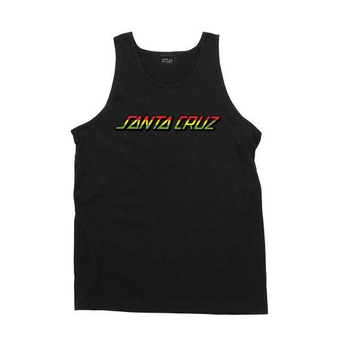 Santa Cruz Rasta Strip Regular Tank - Black - Mens Tank Top