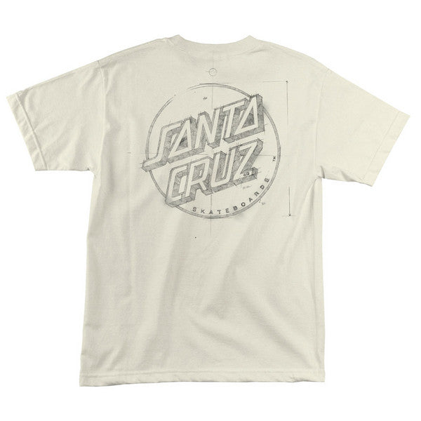 Santa Cruz Sketchy Dot Regular S/S - Cream - Men's T-Shirt