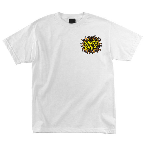 Santa Cruz Sun Dot Regular S/S - White - Men's T-Shirt