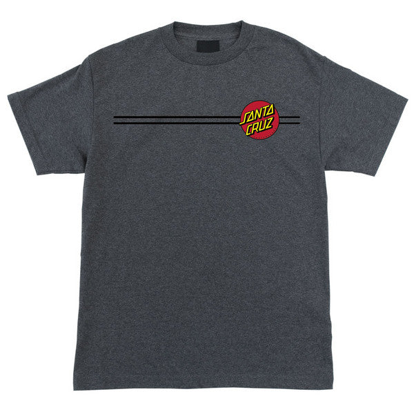 Santa Cruz Classic Dot Regular S/S - Charcoal Heather - Men's T-Shirt