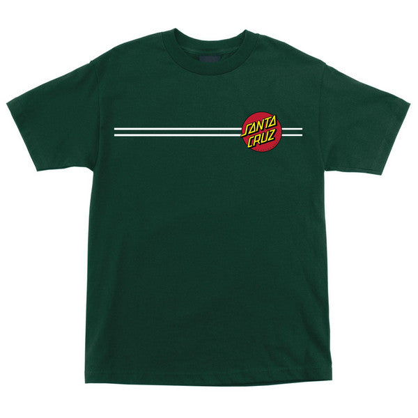 Santa Cruz Classic Dot Regular S/S - Forest Green - Men's T-Shirt