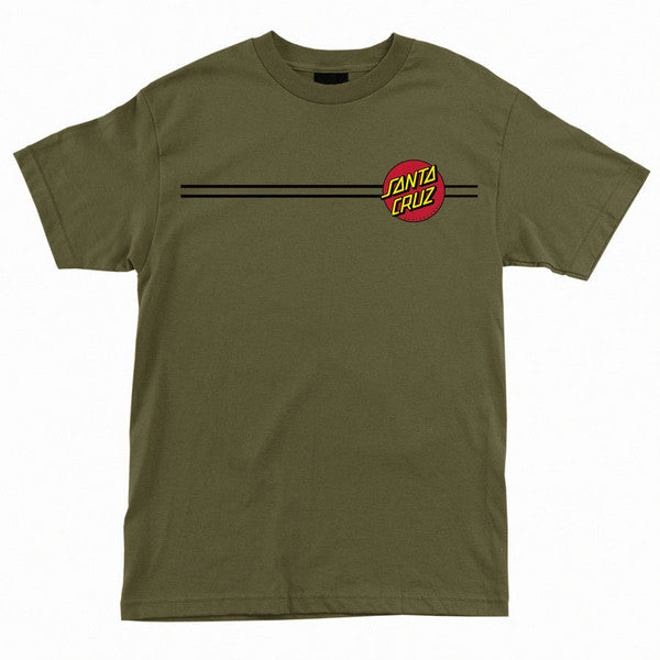 Santa Cruz Classic Dot Regular S/S - Military Green - Men's T-Shirt