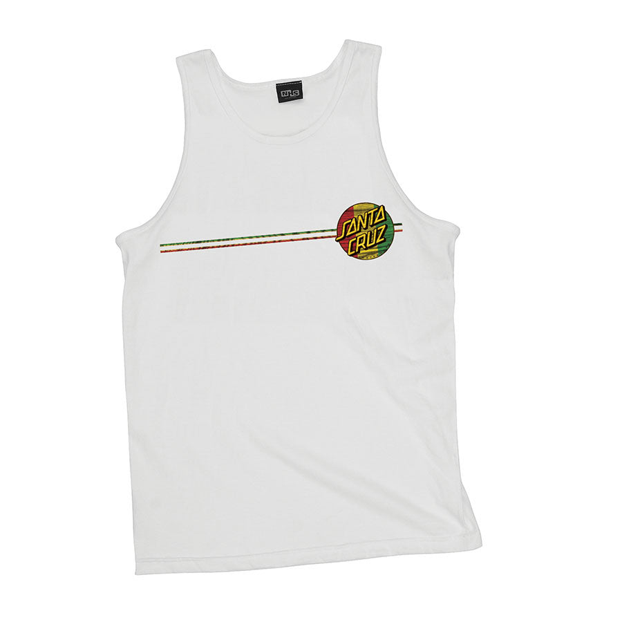 Santa Cruz Rasta Haka Fit Tank - White - Men's T-Shirt