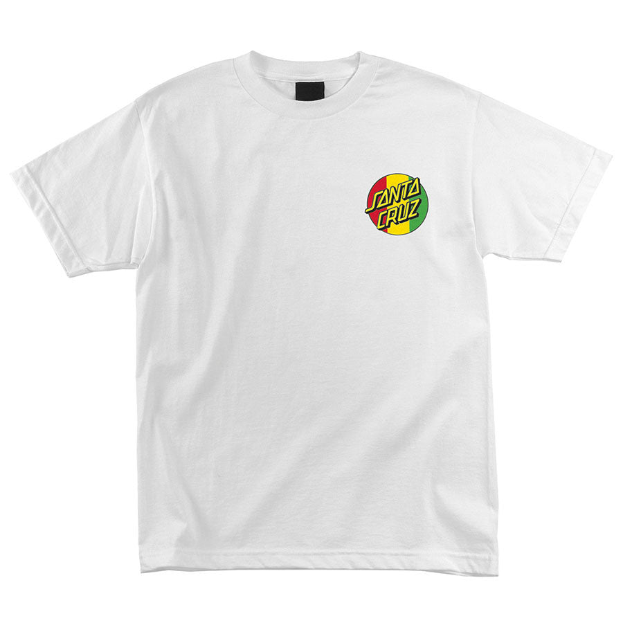 Santa Cruz Lion God Regular S/S - White - Men's T-Shirt