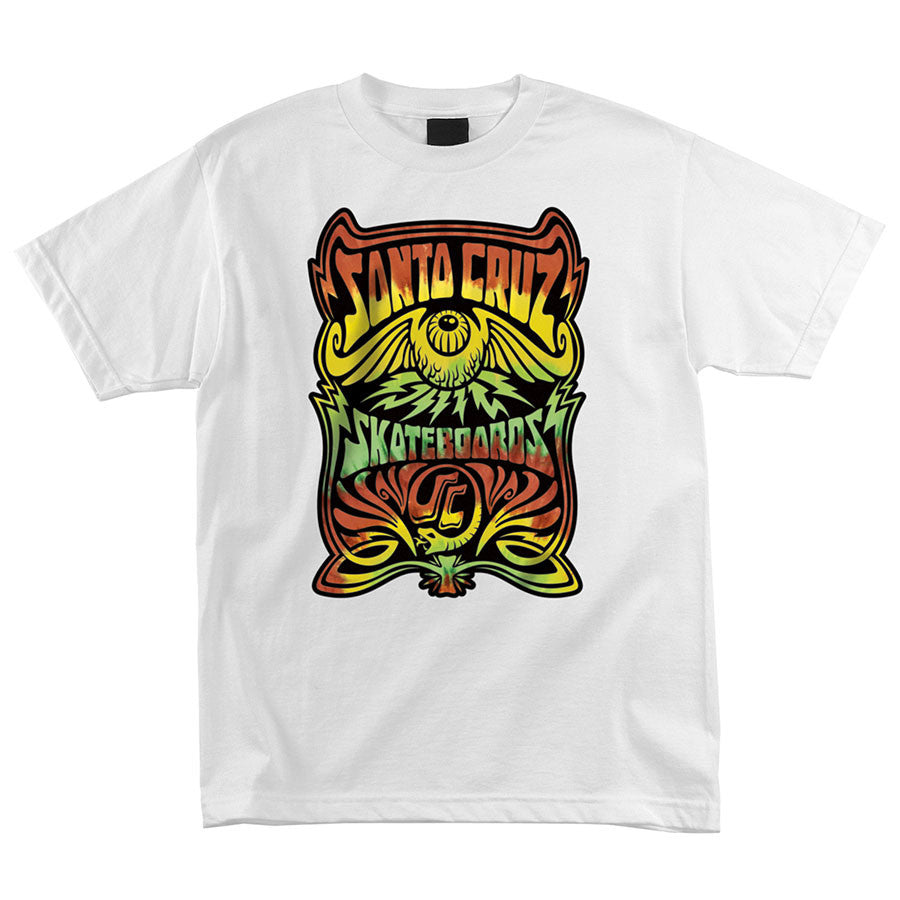 Santa Cruz Rasta Hallucinate Regular S/S - White - Men's T-Shirt