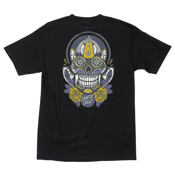 Santa Cruz Sugar Skull Regular S/S - Black - Men's T-Shirt