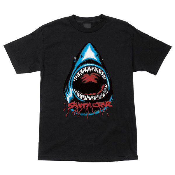 Santa Cruz Retro Shark Regular S/S - Black - Youth T-Shirt
