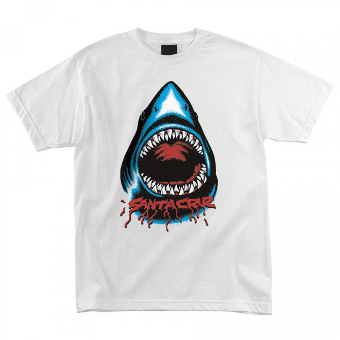 Santa Cruz Retro Shark Regular S/S - White - Youth T-Shirt