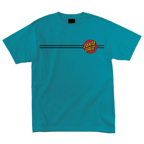 Santa Cruz Classic Dot Regular S/S - Turquoise - Men's T-Shirt