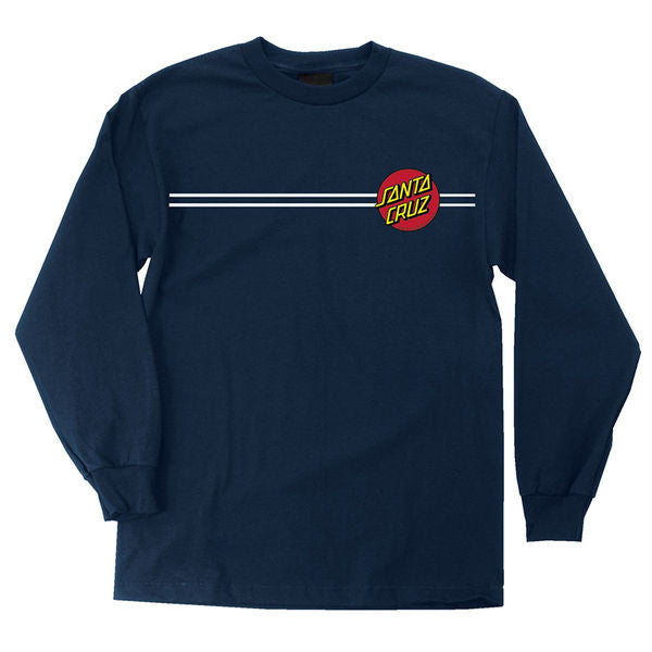 Santa Cruz Classic Dot Regular L/S - Navy - Men's T-Shirt