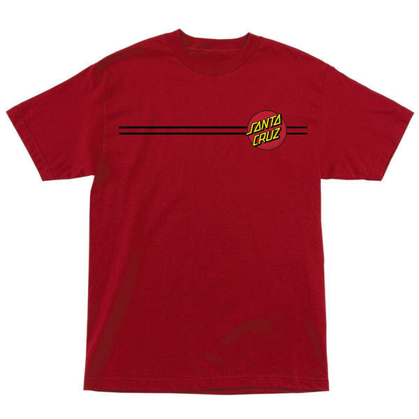 Santa Cruz Classic Dot Regular S/S - Cardinal Red - Men's T-Shirt