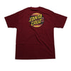 Santa Cruz Serape Dot Regular S/S - Burgundy - Men's T-Shirt