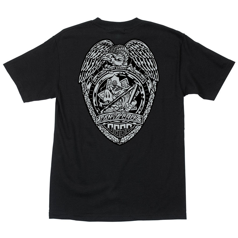 Santa Cruz OGSC Badge Regular S/S - Black - Men's T-Shirt