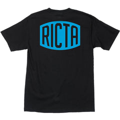 Ricta Logo Regular S/S - Black - Mens T-Shirt