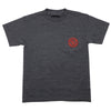 Thunder Mainline Pocket S/S - Charcoal/Red - Men's T-Shirt