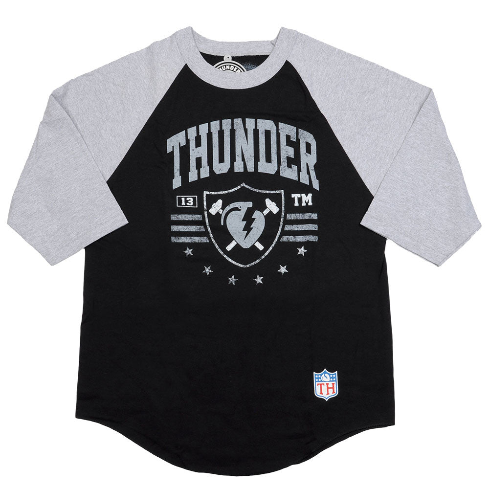 Thunder Thunder Nation 3/4 Sleeve - Black/Grey - Men's T-Shirt
