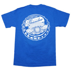 Thunder Bottle Cap Pocket S/S - Royal/White - Men's T-Shirt