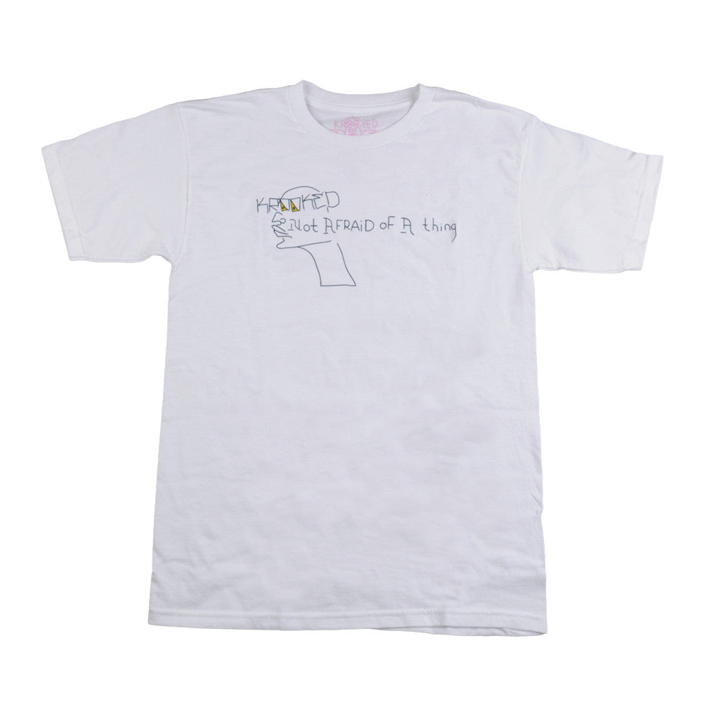 Krooked Not Afraid S/S - White - Men's T-Shirt