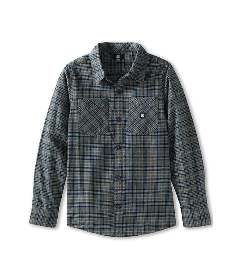 DC Alchemist L/S - Ocean Plaid - Men's T-Shirt