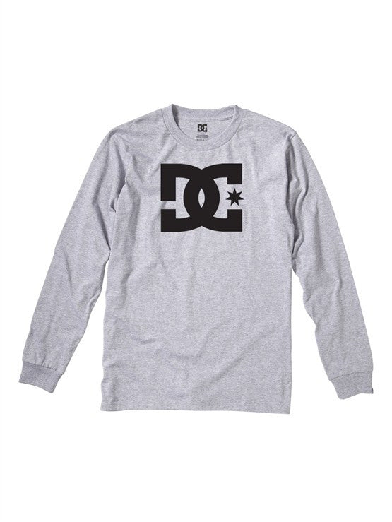 DC Star L/S - Heather Grey - Men's T-Shirt