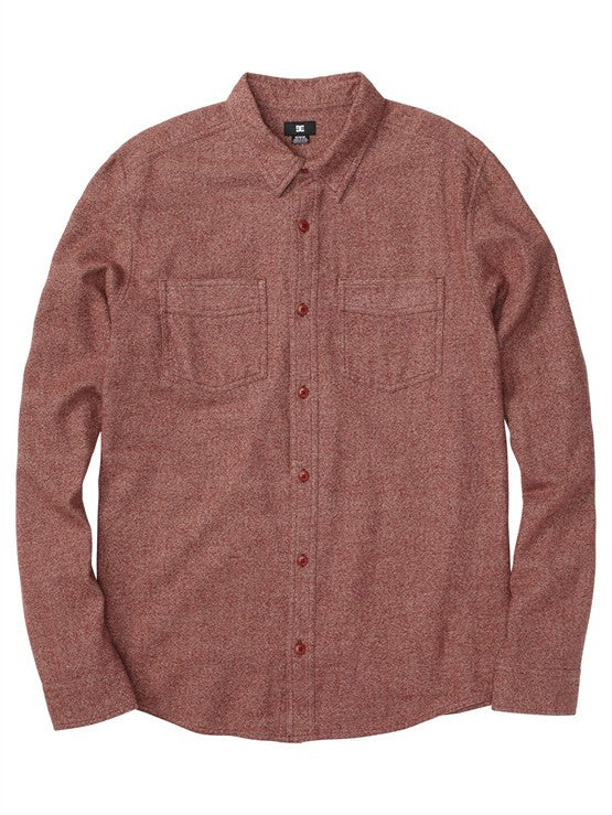 DC Seneca L/S - Heather Marooned - Men's T-Shirt