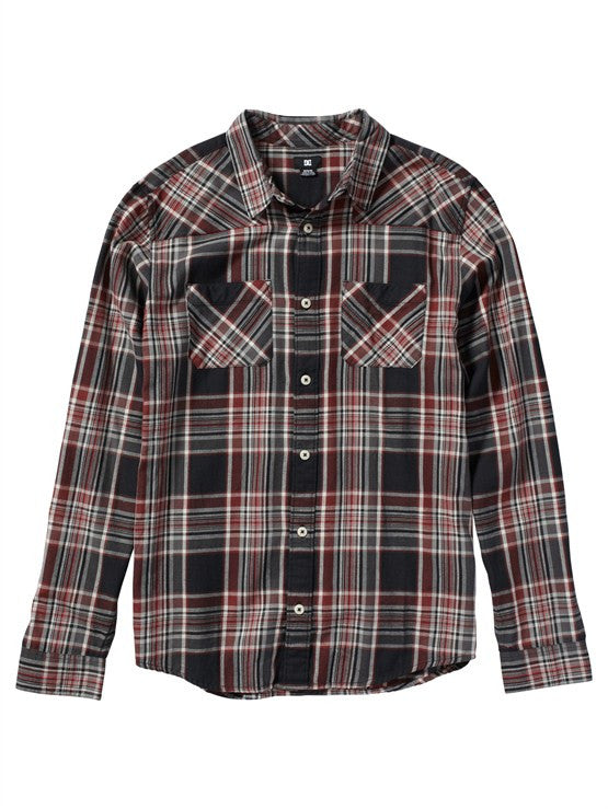 DC Ziprin L/S - Black Plaid - Men's T-Shirt