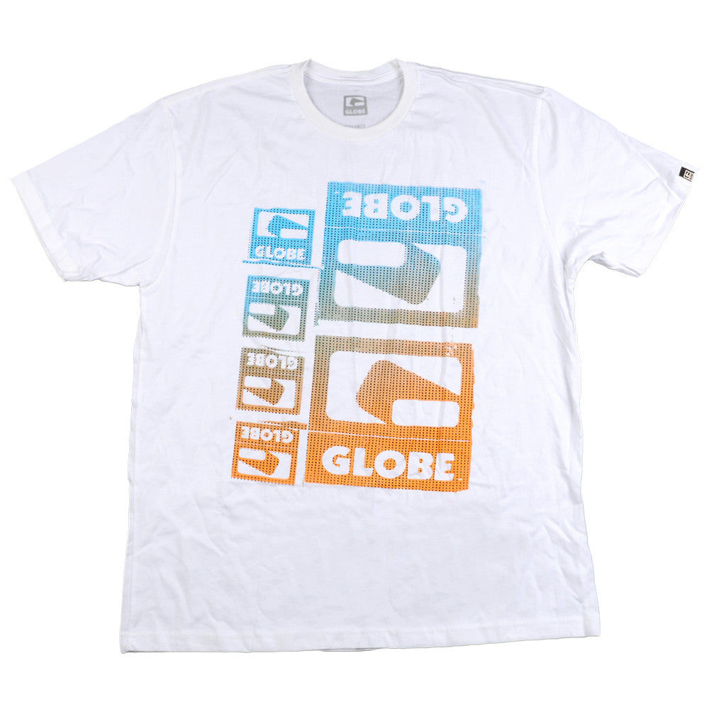 Globe Blocking Out S/S - White - T-Shirt