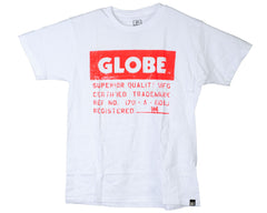Globe Label S/S - White - Men's T-Shirt