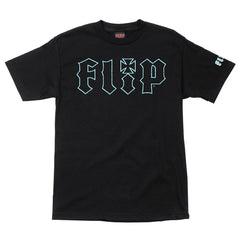 Flip HKD Crackle Regular S/S Shirt - Black - Mens Shirt