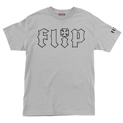 Flip HKD Crackle Regular S/S Shirt - Light Grey - Mens Shirt
