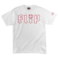 Flip HKD Crackle Regular S/S Shirt - White - Mens Shirt