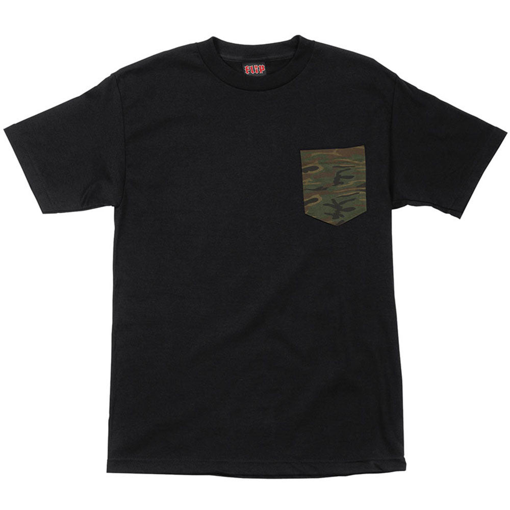 Flip Camo Pocket S/S - Black - Men's Shirt