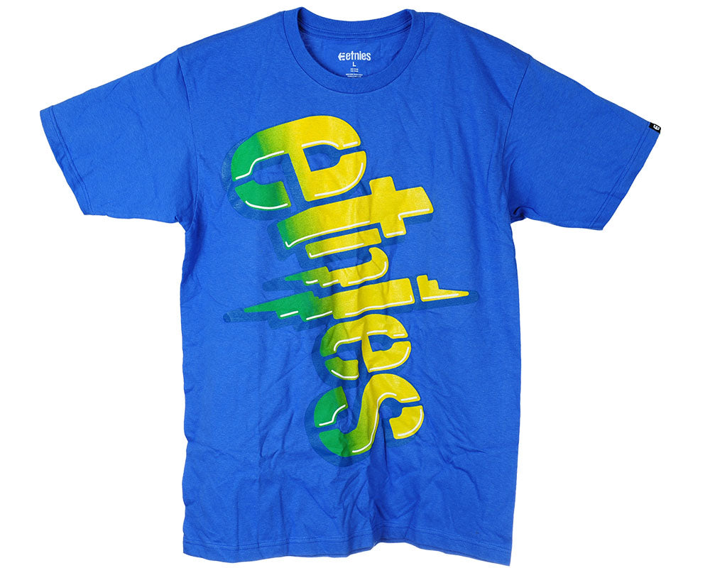 Etnies Faded Forever S/S - Royal Blue - Men's T-Shirt