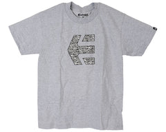 Etnies Icon Fill Youth S/S - Heather Grey - Men's T-Shirt