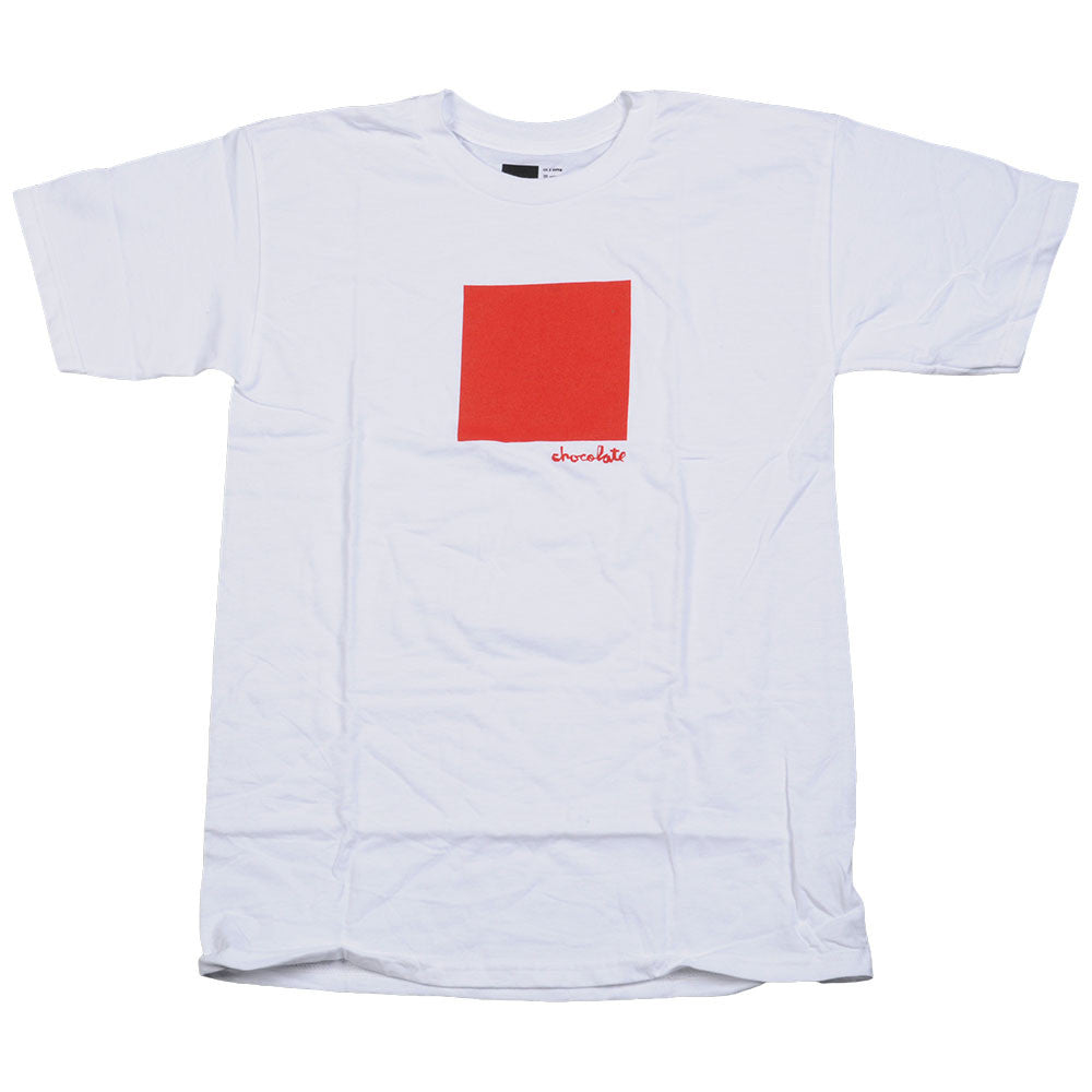 Chocolate Large Off Square S/S - White - Men's T-Shirt
