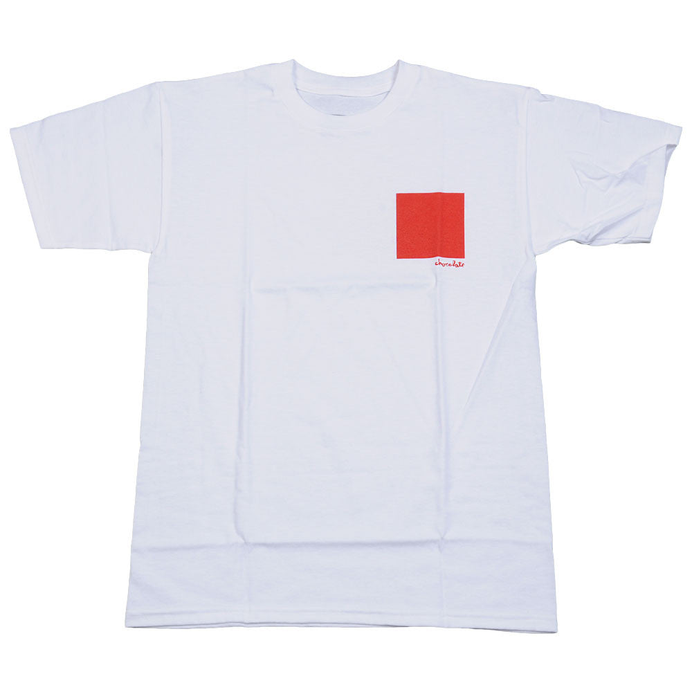 Chocolate Small Off Square S/S - White - Men's T-Shirt