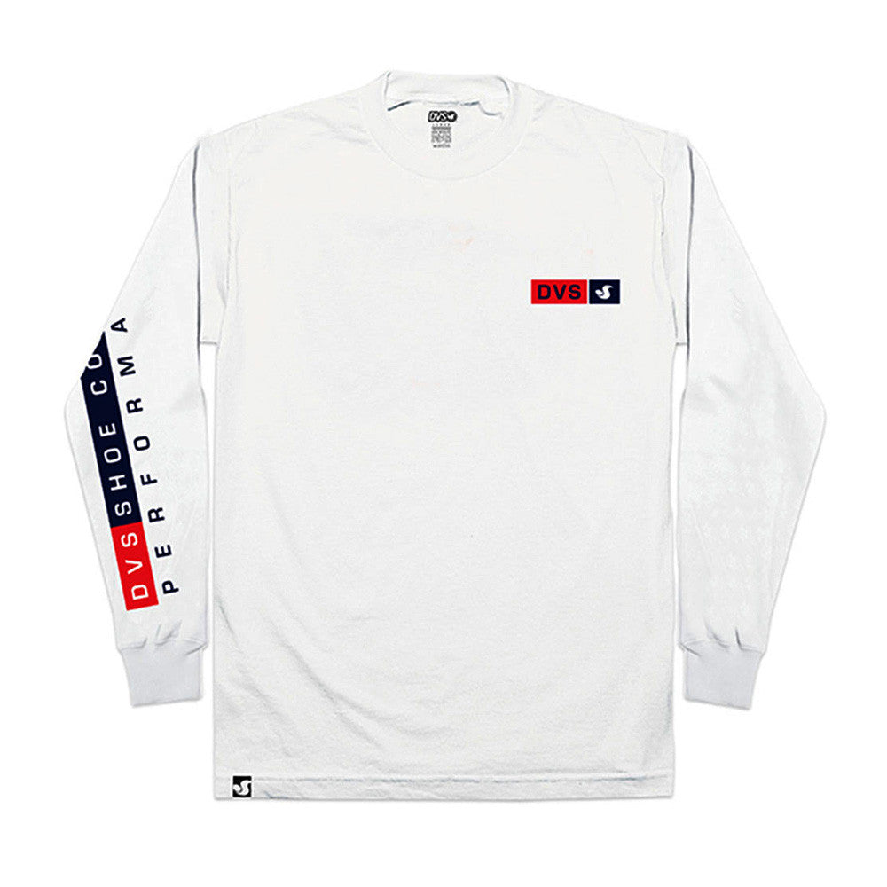 DVS Perform L/S - White 100 - Men's T-Shirt