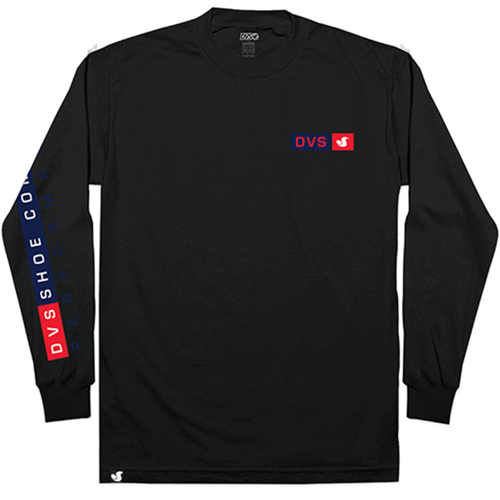 DVS Perform L/S - Black 001 - Men's T-Shirt