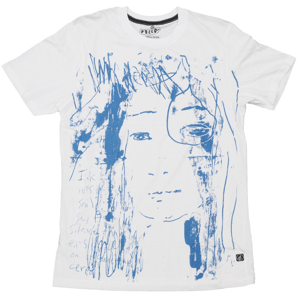 Volcom Kim Gordon Tee - White - Mens T-Shirt