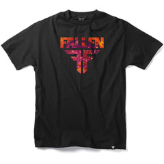 Fallen Insignia S/S - Black/Purple Acid - Men's T-Shirt