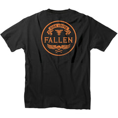 Fallen Skull & Bones Pocket S/S - Black - Men's T-Shirt