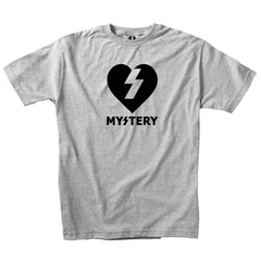 Mystery Heart S/S - Heather Grey/Black - Men's T-Shirt