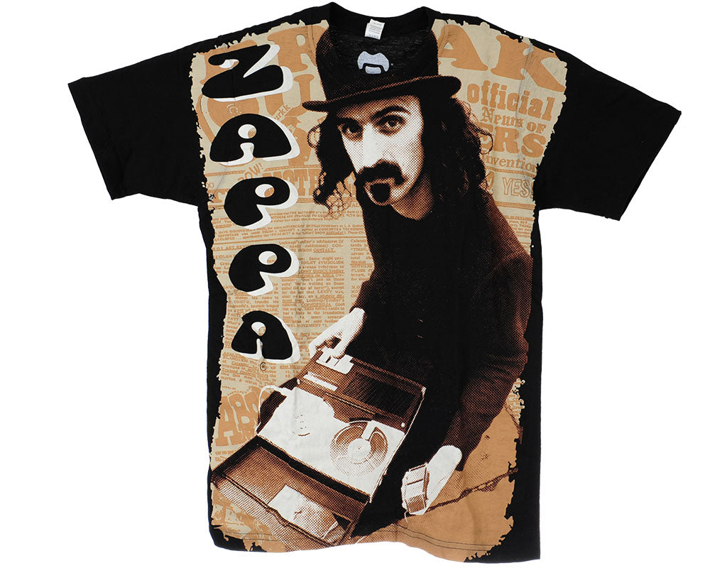Frank Zappa Reel/Reel All Over S/S - Black - Men's T-Shirt