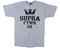 Supra Distortion S/S - Grey - Men's T-Shirt