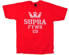 Supra Distortion S/S - Red - Men's T-Shirt