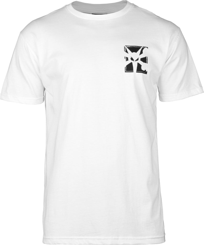 Bones Boxer Short Sleeve - White - Men's T-Shirt