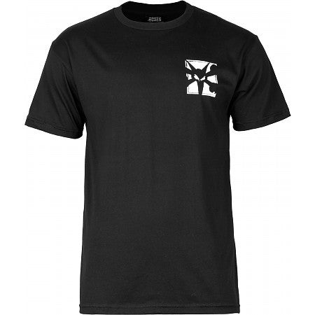 Bones Boxer Short Sleeve - Black - Men's T-Shirt